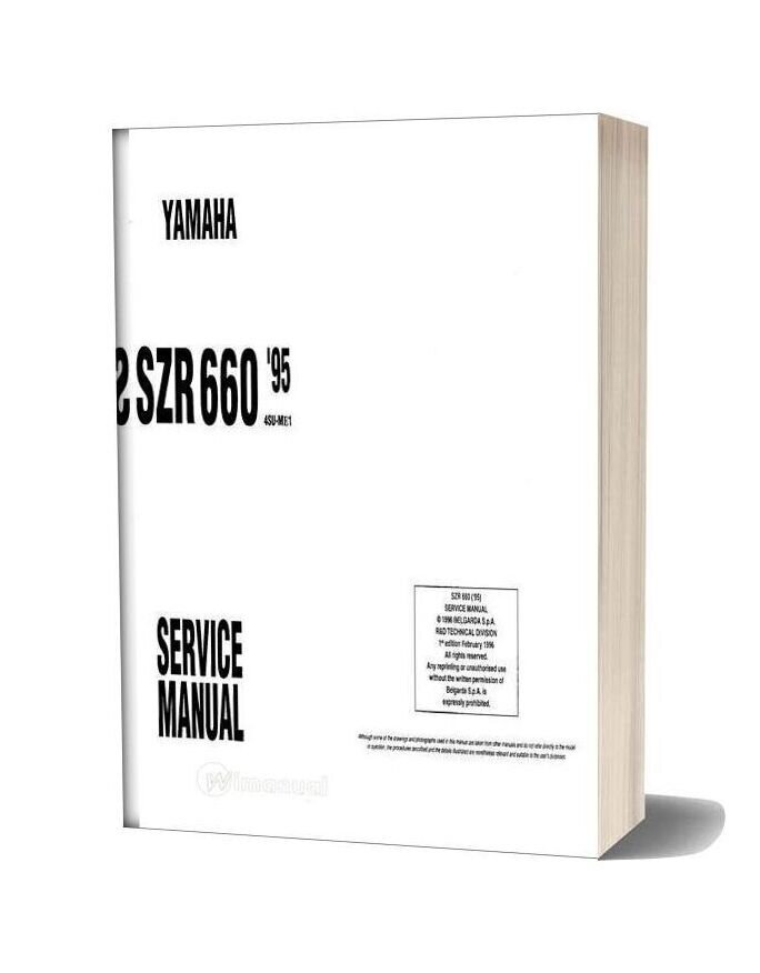 Yamaha Szr 660 95 Service Manual
