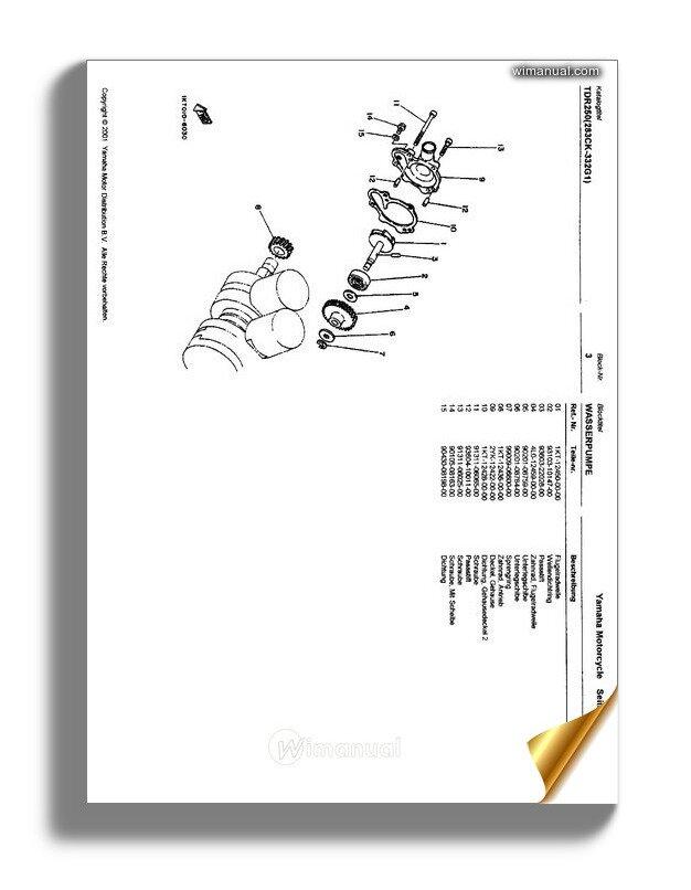 yamaha tdr250 parts catalog ger