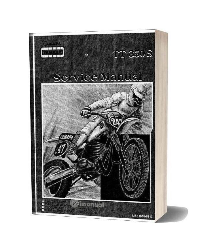 Yamaha Tt350s 85 Service Manual