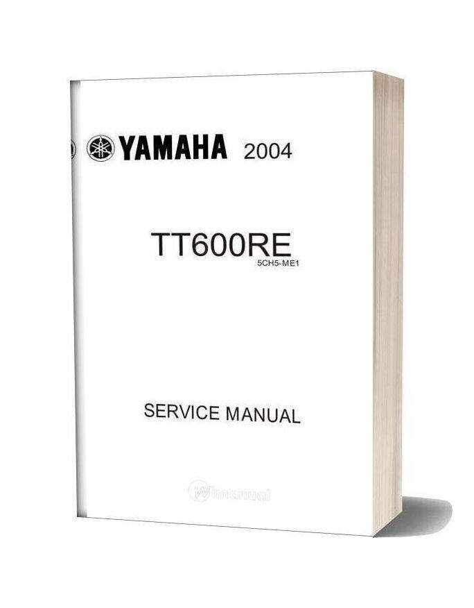 Yamaha Tt600re 2004 Service Manual