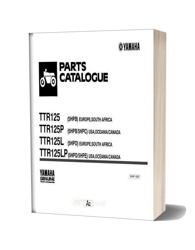 Yamaha Ttr125 Parts Catalogue