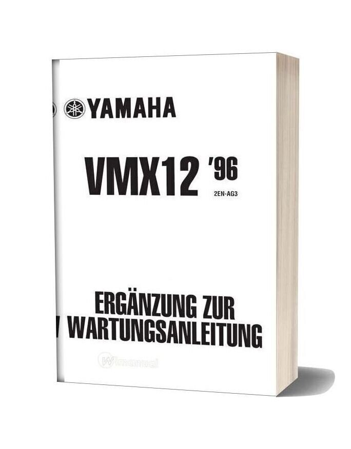 Yamaha Vmx12 96 01 Complementary Service Manual (German)