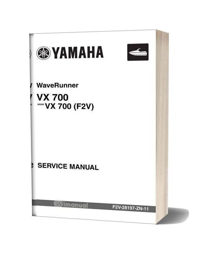 Yamaha Vx700 Service Manual
