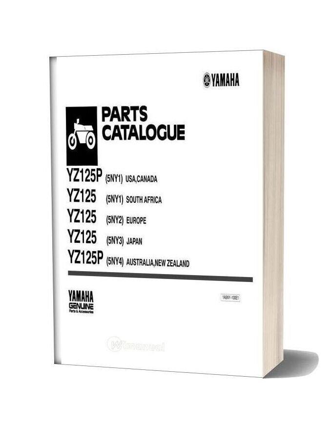 Yamaha Yz125 Parts Catalogue