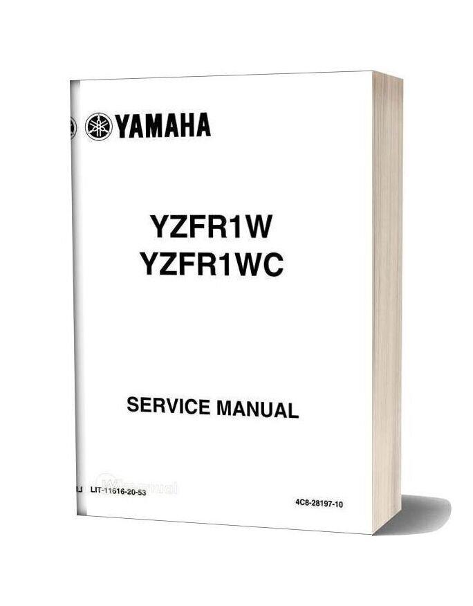 Yamaha Yzfr1 2007 R1 Service Manual