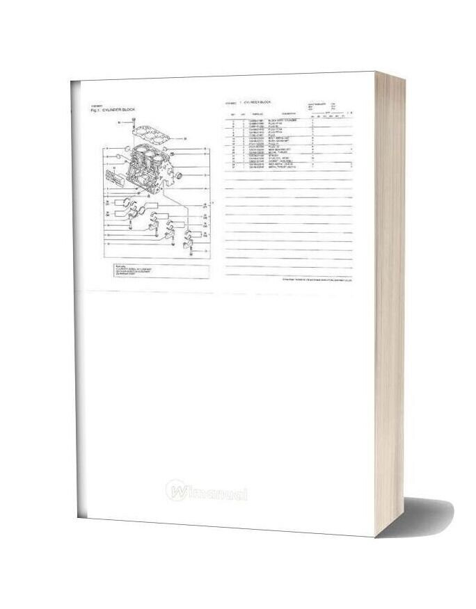 Yanmar 3tnv88 N5fa Engine Parts Catalog