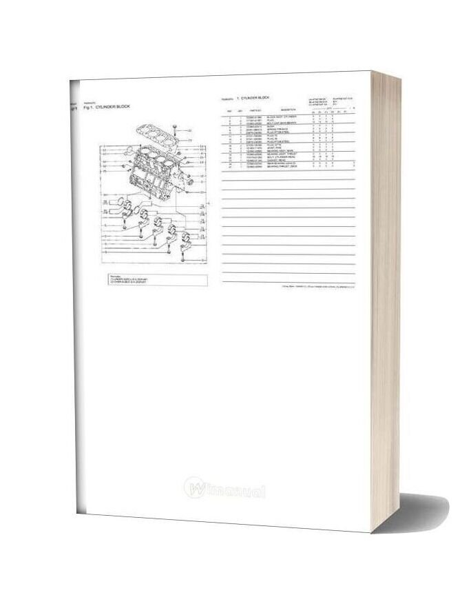 Yanmar 4tne106t G1a Engine Parts Catalog