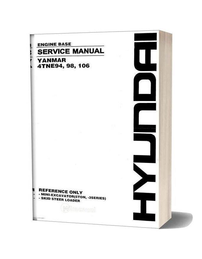 Yanmar 4tne94 98 106 Series Service Manual