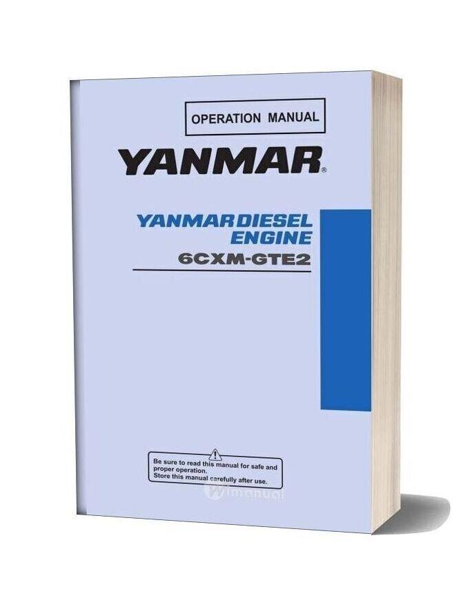 Yanmar 6cxm Gte2 Service Manual