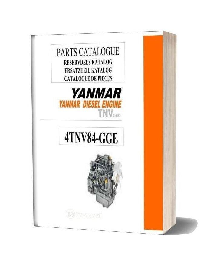 Yanmar Diesel Engine Tnv Series 4tnv84 Gce Parts Catalogue