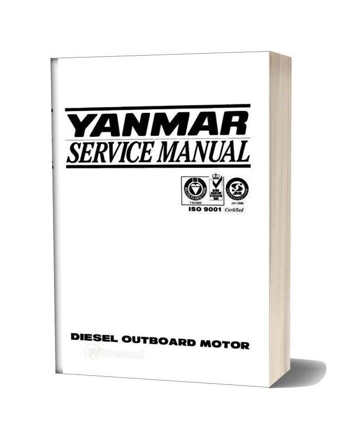 Yanmar Marine Diesel Outboard Jh4 Series Service Manual