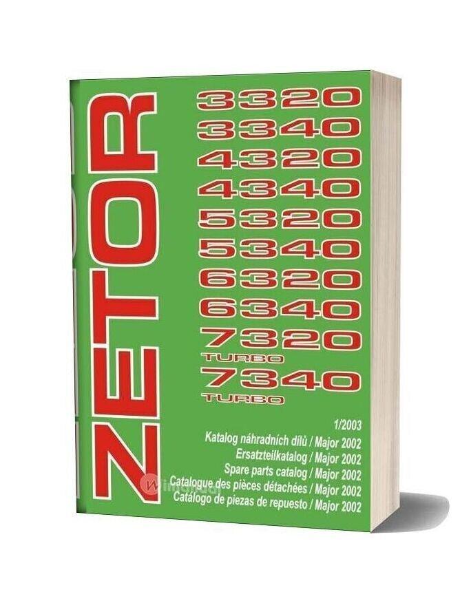 Zetor Tractor 33207340 Turbo (12003) Parts Catalog