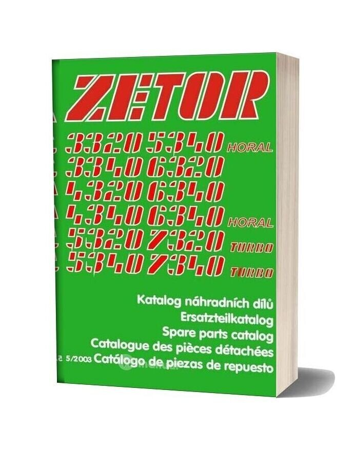 Zetor Tractor 33207340 Turbo (52003) Parts Catalog