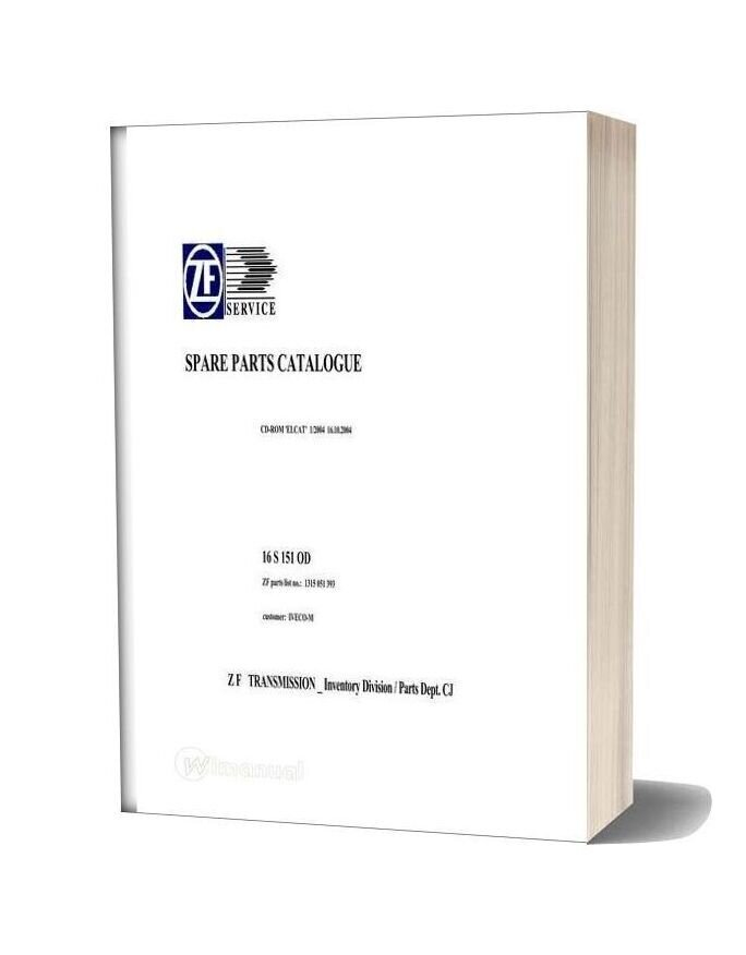 Zf 16s 151 Od 1315 051 393 2004 Spare Parts Catalog