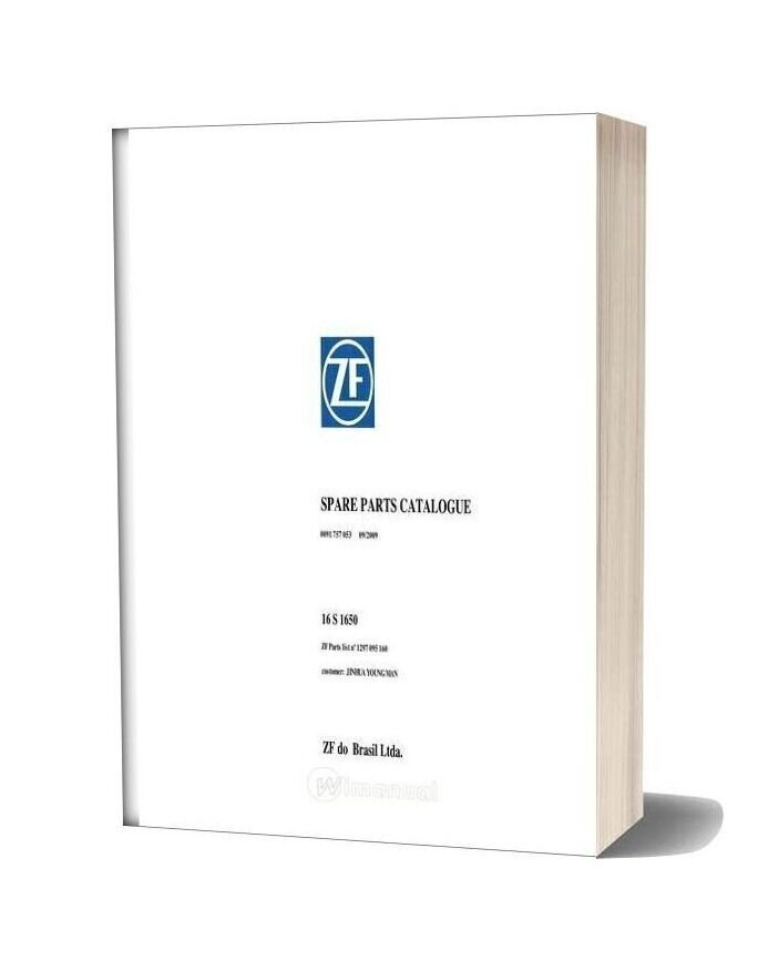Zf 16s 1650 1297 095 160 2009 Spare Parts Catalog