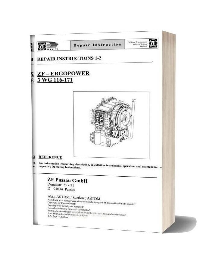 Zf 3 6 116 171 E Repair Manual