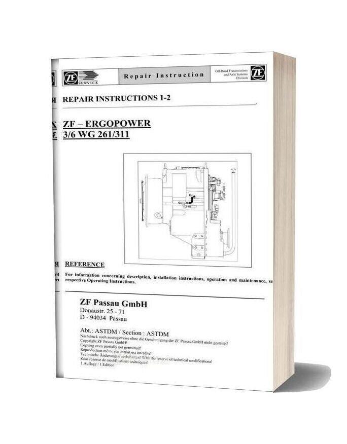 Zf 3 6 261 311 E Repair Manual