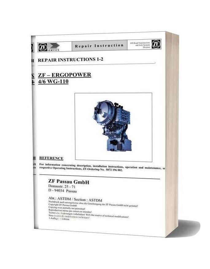 Zf 4 6 110 E Repair Manual