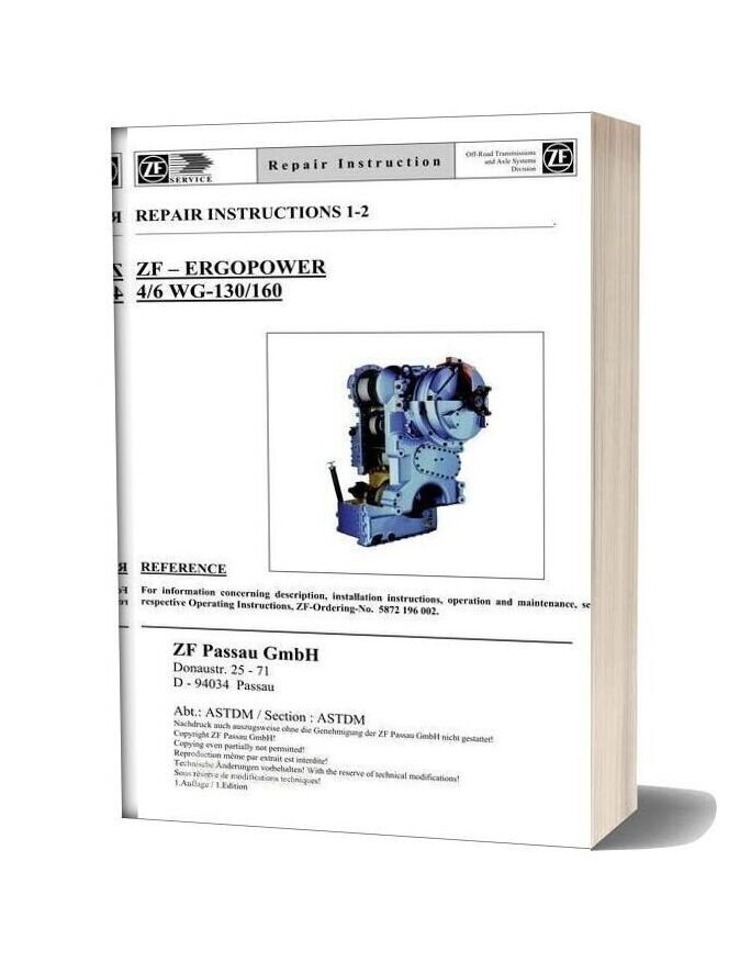 Zf 4 6 130 160 E Repair Manual
