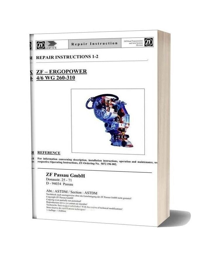 Zf 4 6 260 310 E Repair Manual