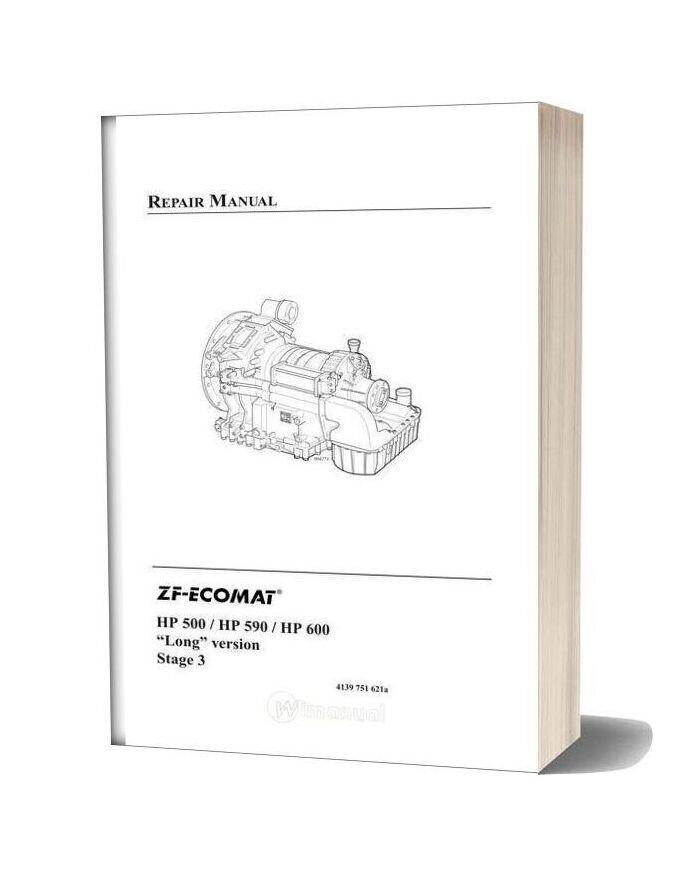 Zf 5hp & 6hp Ecomat 500 590 600 Long Version Repair Manual 2