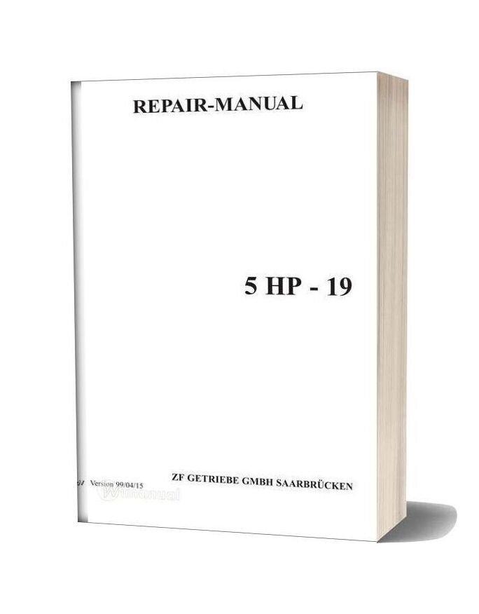 Zf 5hp19e Repair Manual