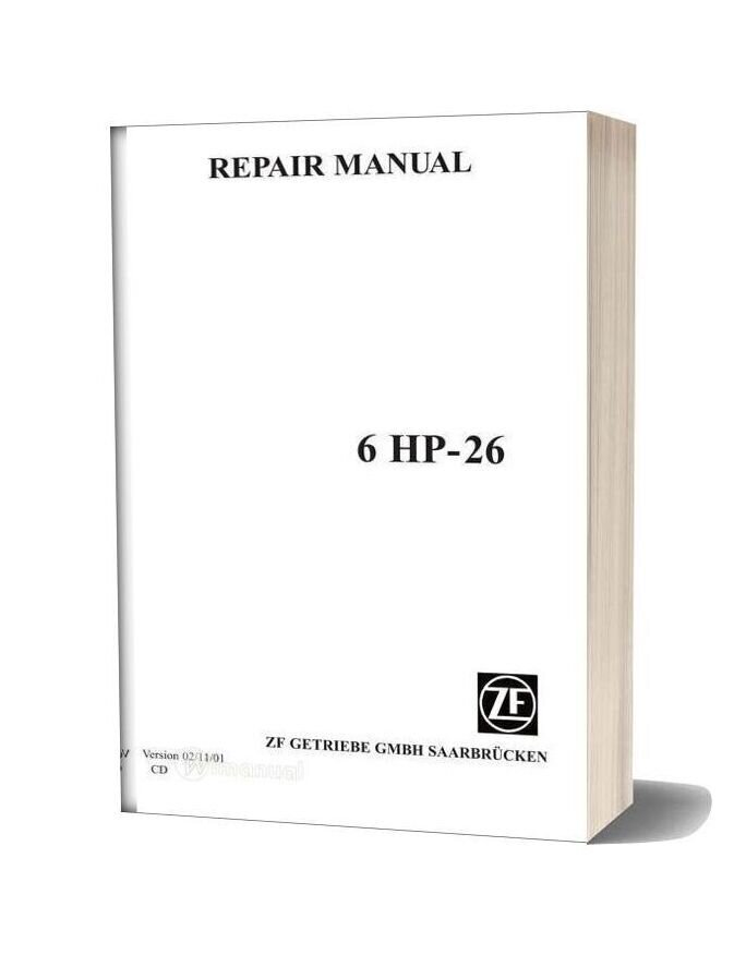 Zf 6hp26e Repair Manual