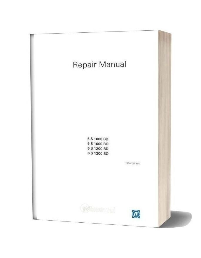 Zf 6s1000 1200bo Bd Repair Manual