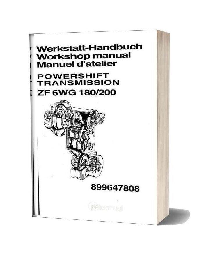 Zf 6wg180 200 Repair