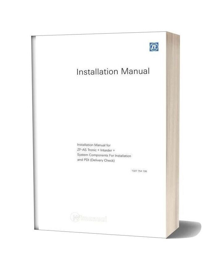 Zf As Tronic 1327 754 106 Installation Manual