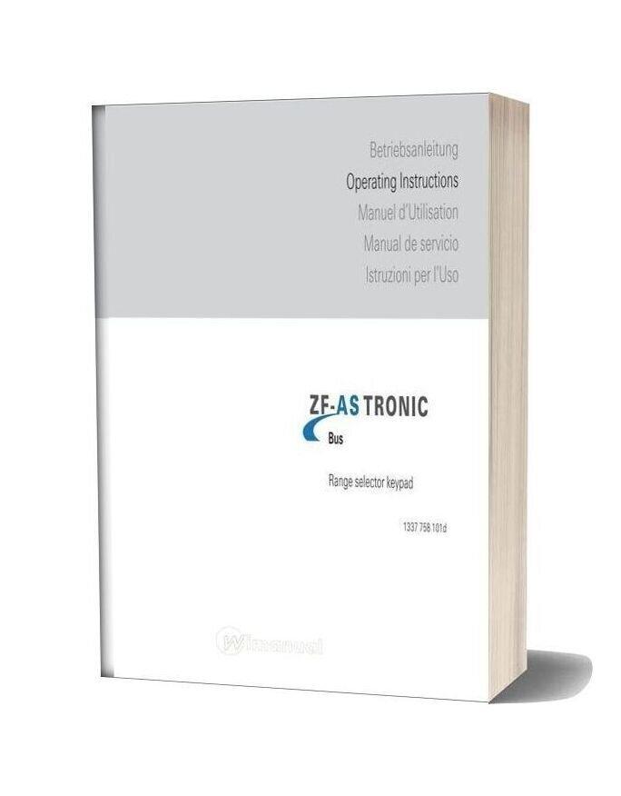 Zf As Tronic Operators Manual Range Selector Keypad