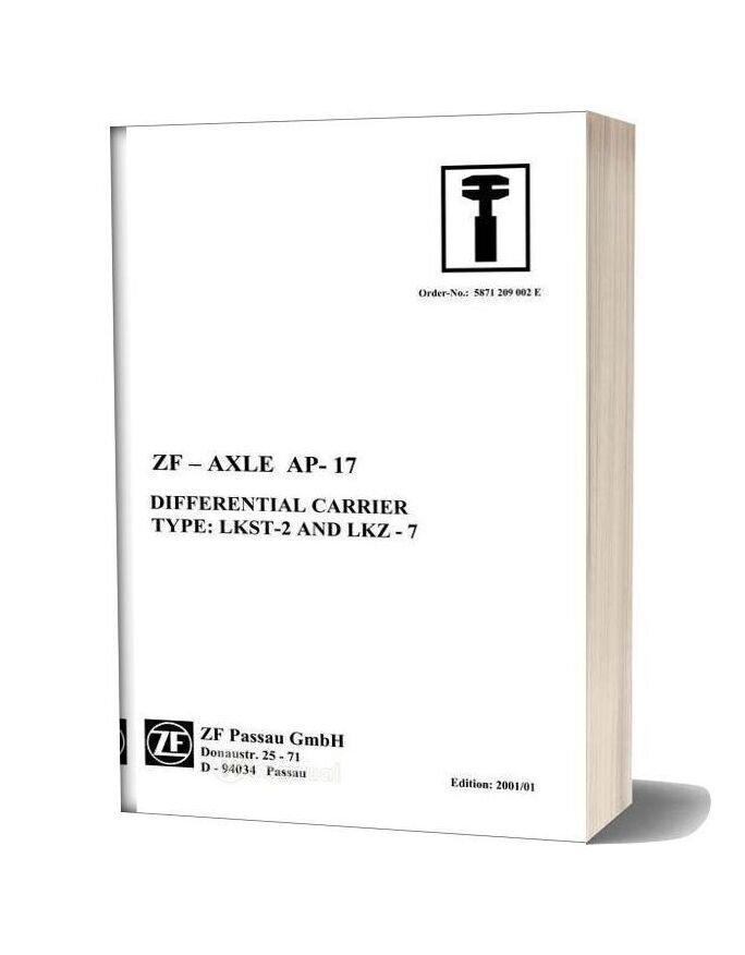Zf Axle Ap 17 Repair Manual