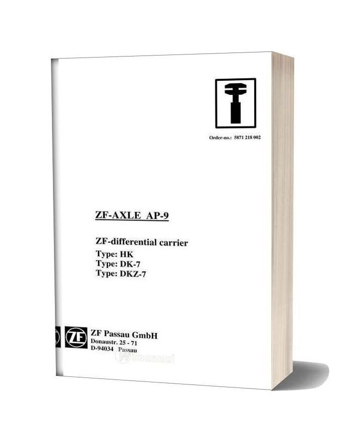 Zf Axle Ap 9 Repair Manual