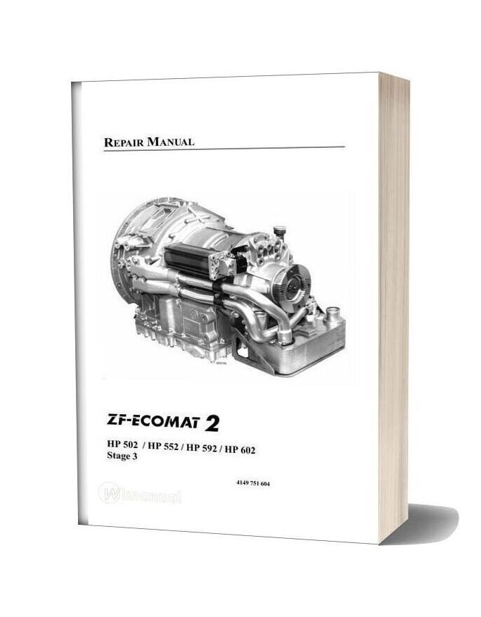 Zf Ecomat 2 Hp502 552 592 602 Repair Manual