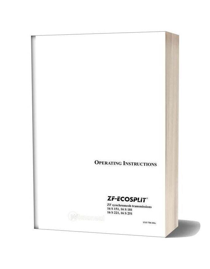 Zf Ecosplit Operating Instruction