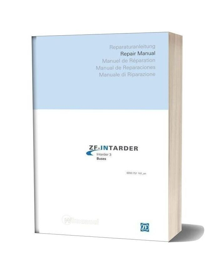 Zf Intarder 3 Buses Repair Manual