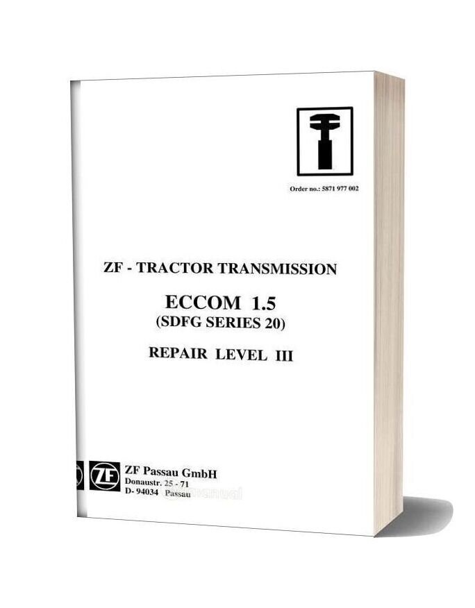 Zf Transmission Eccom 1 5 Workshop Manual
