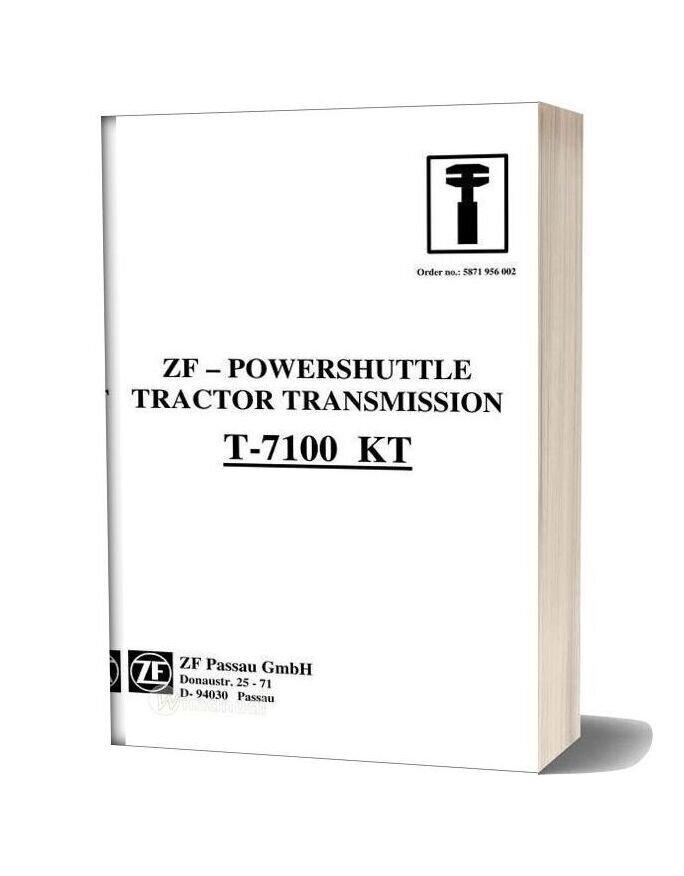 Zf Transmission Powershuttle T 7100kt Workshop Manual